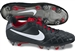 Nike Tiempo Legend IV SG-PRO Soccer Cleats (Black/White/Challenge Red)