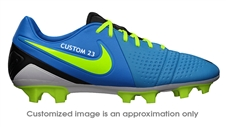 Nike CTR360 Maestri III FG CUSTOM Soccer Cleats (Current Blue/Black/Volt)