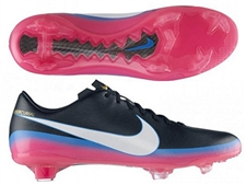 Nike CR7 Mercurial Miracle III Soccer Cleats (Black/White/Blue Glow/Pink Flash)