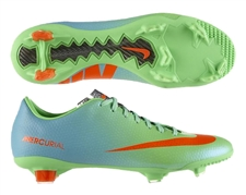 Nike Mercurial Veloce FG Soccer Cleats (Neo Lime/Metallic Silver/Polarized Blue/Total Crimson)