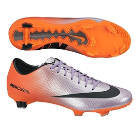 Nike Mercurial Veloce FG Soccer Cleats (Metallic Mach Purple/Black/Total Orange)