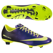 Nike Mercurial Veloce FG Soccer Cleats (Electro Purple/Black/Volt)