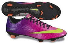 Nike Mercurial Veloce FG Soccer Cleats (Fireberry/Red Plum/Electric Green)