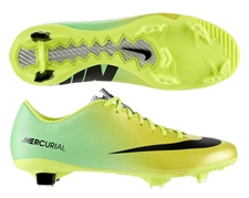 Nike Mercurial Veloce FG Soccer Cleats (Vibrant Yellow/Black/Neo Lime)