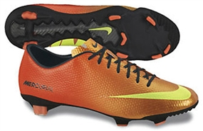 Nike Mercurial Veloce FG Soccer Cleats (Sunset/Total Crimson/Volt)