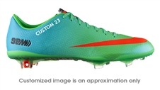 Nike Mercurial Vapor IX CUSTOM Soccer Cleats (Neo Lime/Metallic Silver/Polarized Blue/Total Crimson)