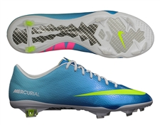 Nike Mercurial Vapor IX Soccer Cleats (Neptune Blue/Tide Pool Blue/Pink Flash/Volt)