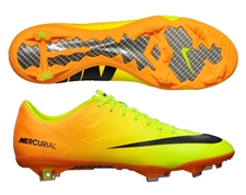 Nike Mercurial Vapor IX Soccer Cleats (Volt/Bright Citrus/Black)
