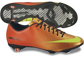 Nike Mercurial Vapor IX Soccer Cleats in Orange and Green