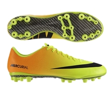Nike Mercurial Vapor IX Artificial Grass Soccer Cleats (Volt/Bright Citrus/Black)