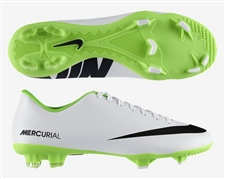 Nike Mercurial Victory IV FG Soccer Cleats (White/Electric Green/Black)