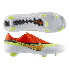 Sale $74.95 | Nike CR Mercurial Veloce FG Soccer Cleats (White/Loyal Blue/Total Crimson/Volt)