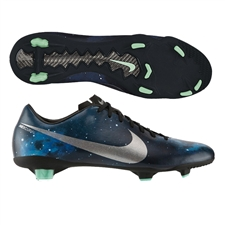 $107.99 | Nike CR Mercurial Veloce FG Soccer Cleats (Dark Obsidian/Green Glow/Black/Metallic Platinum)