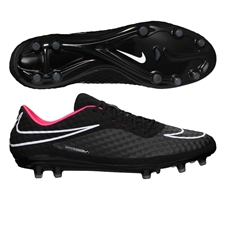 Nike Hypervenom Phantom FG Soccer Cleats (Black/Hyper Punch/White)