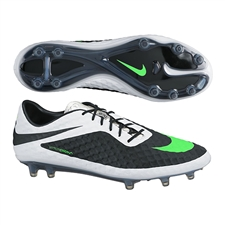 Nike Hypervenom Phantom FG Soccer Cleats (Black/Neo Lime/White)