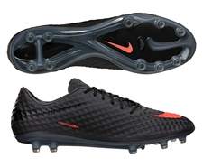 Nike Hypervenom Phantom FG Soccer Cleats (Dark Charcoal/Black/Total Crimson)