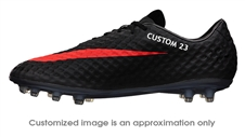 Nike Hypervenom Phantom FG CUSTOM Soccer Cleats (Dark Charcoal/Black/Total Crimson)
