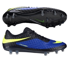 Nike Hypervenom Phantom FG Soccer Cleats (Hyper Blue/Black/Volt)