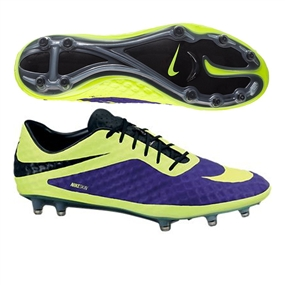 Nike Hypervenom Phantom FG Soccer Cleats (Electro Purple/Black/Volt)