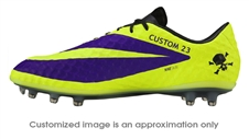 Nike Hypervenom Phantom FG CUSTOM Soccer Cleats (Electro Purple/Black/Volt)
