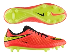 Nike Hypervenom Phantom FG Soccer Cleats (Bright Crimson/Hyper Punch)