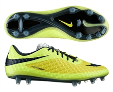 Nike Hypervenom Phantom FG Soccer Cleats (Vibrant Yellow/Black/Volt Ice)