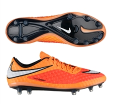 Nike Hypervenom Phantom FG Soccer Cleats (Hyper Crimson/Atomic Orange/White)