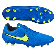 Nike Tiempo Genio Leather FG Soccer Cleats (Soar/Volt)