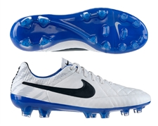 Nike Tiempo Legend V Reflective FG Soccer Cleats (Reflective White/Treasure Blue/Black)