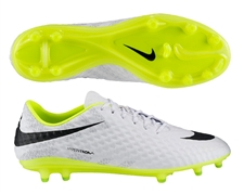 Nike Hypervenom Phantom Reflective FG Soccer Cleats (Reflective White/Volt/Black)