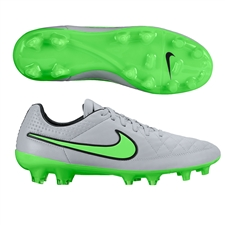 Nike Tiempo Legend V FG Soccer Cleats (Wolf Grey/Black/Green Strike)