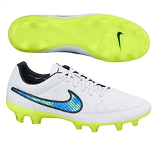Nike Tiempo Legend V FG Soccer Cleats (White/Soar/Volt)