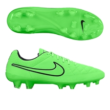 Nike Tiempo Legend V FG Soccer Cleats (Green Strike/Black)