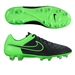Nike Tiempo Legacy FG Soccer Cleats (Black/Green Strike)