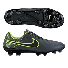 Nike Tiempo Legacy FG Soccer Cleats (Anthracite/Black/Volt)
