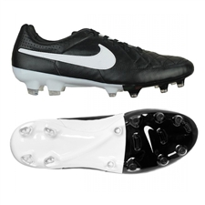 Nike Tiempo Legacy FG Soccer Cleats (Black/White)
