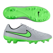 Nike Tiempo Legacy FG Soccer Cleats (Wolf Grey/Black/Green Strike)