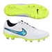 Nike Tiempo Legacy FG Soccer Cleats (White/Soar/Volt)