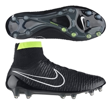 Nike Magista Obra FG Soccer Cleats (Black/White/Volt)