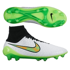 Nike Magista Obra FG Soccer Cleats (White/Black/Total Orange/Poison Green)