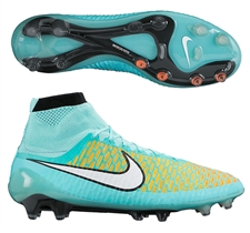 Nike Magista Obra FG Soccer Cleats (Hyper Turquoise/Laser Orange/Hyper Crimson/White)