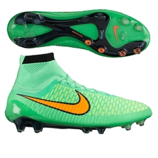 Nike Magista Obra FG Soccer Cleats (Poison Green/Black/Total Orange)