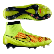 Nike Magista Obra FG Soccer Cleats (Volt/Metallic Gold/Black/Hyper Punch)