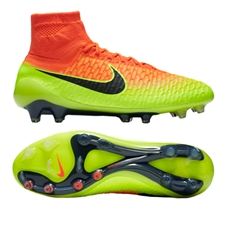 Nike Magista Obra FG Soccer Cleats (Total Crimson/Black/Volt/Bright Citrus)