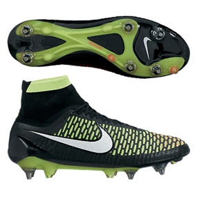 Nike Magista Obra SG-Pro Soccer Cleats (Black/White/Volt/Hyper Punch)