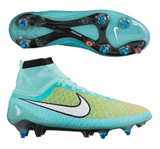 Nike Magista Obra SG-Pro Soccer Cleats (Hyper Turquoise/Laser Orange/Hyper Crimson/White)