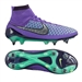 Nike Magista Obra SG-Pro Soccer Cleats (Hyper Grape/Green Glow/Ghost Green/Metallic Silver)