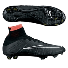 Nike Mercurial SuperFly IV Soccer Cleats (Black/Hyper Punch/Volt/White)