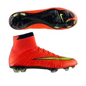 Nike Mercurial SuperFly IV Soccer Cleats (Hyper Punch/Gold/Black)