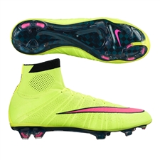 Nike Mercurial SuperFly IV FG Soccer Cleats (Volt/Black/Hyper Pink)